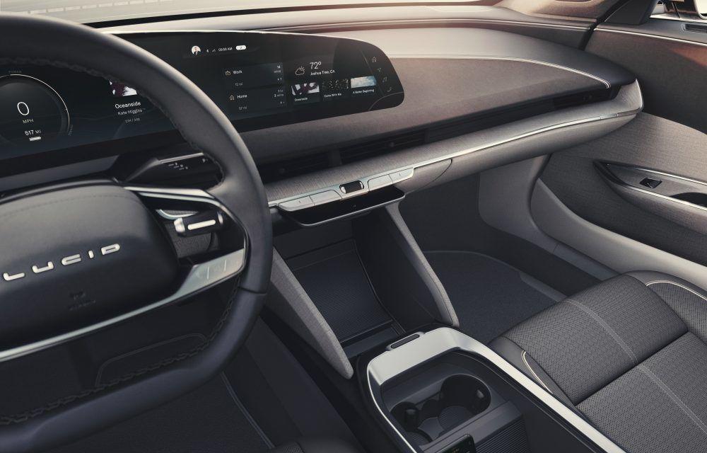 Sedanul electric Lucid Air a fost prezentat: rivalul lui Tesla Model S are până la 1.080 de cai putere și autonomie de până la 827 de kilometri - Poza 18