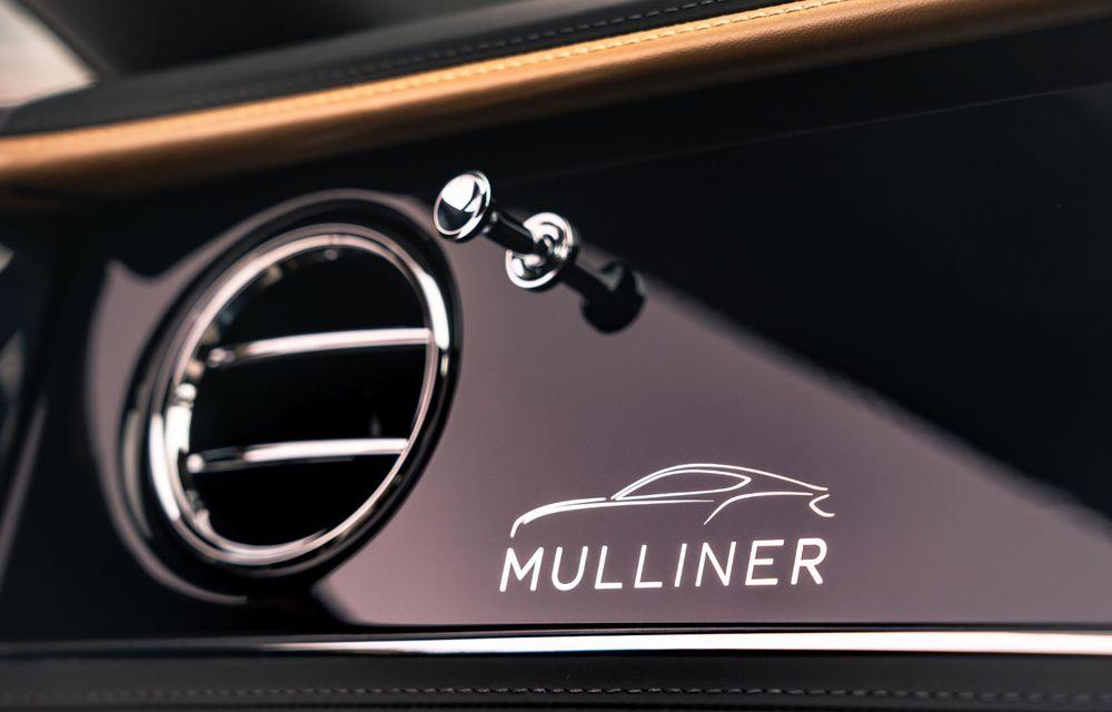 Bentley prezintă ediția specială Continental GT Mulliner Coupe: comenzile încep în octombrie, iar livrările din 2021 - Poza 12