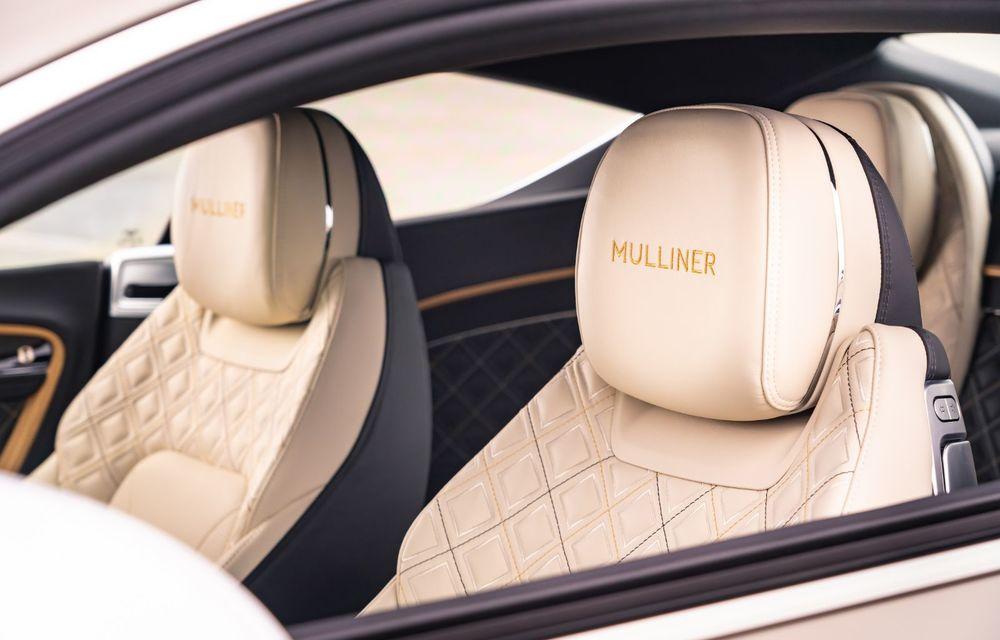 Bentley prezintă ediția specială Continental GT Mulliner Coupe: comenzile încep în octombrie, iar livrările din 2021 - Poza 8
