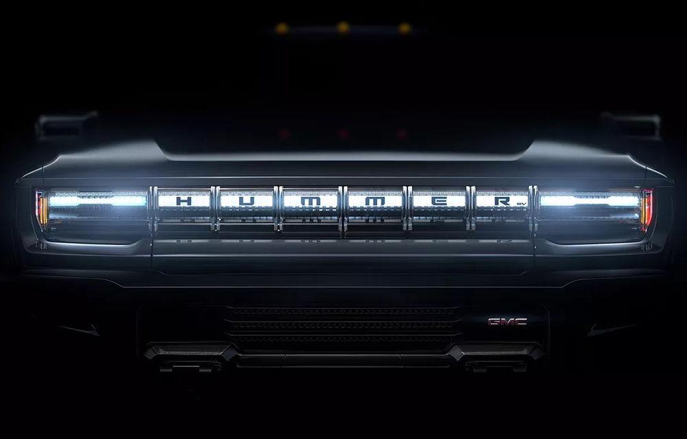 Pick-up-ul electric Hummer EV va avea direcție integrală: prezentarea noului model, planificată pentru 20 octombrie - Poza 1