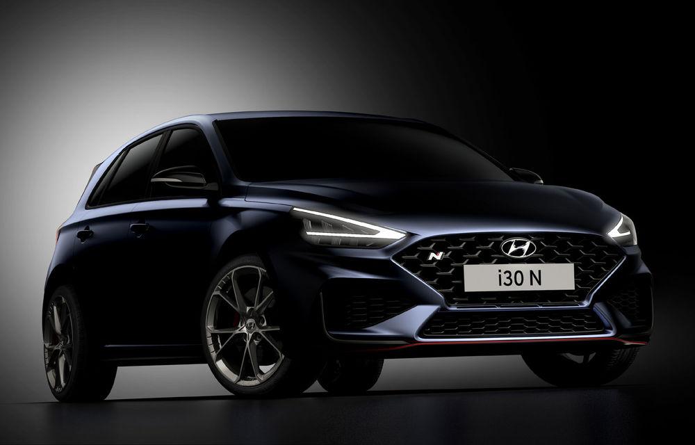 Primele imagini cu Hyundai i30 N facelift: modelul va primi cutie automată cu dublu-ambreiaj - Poza 1