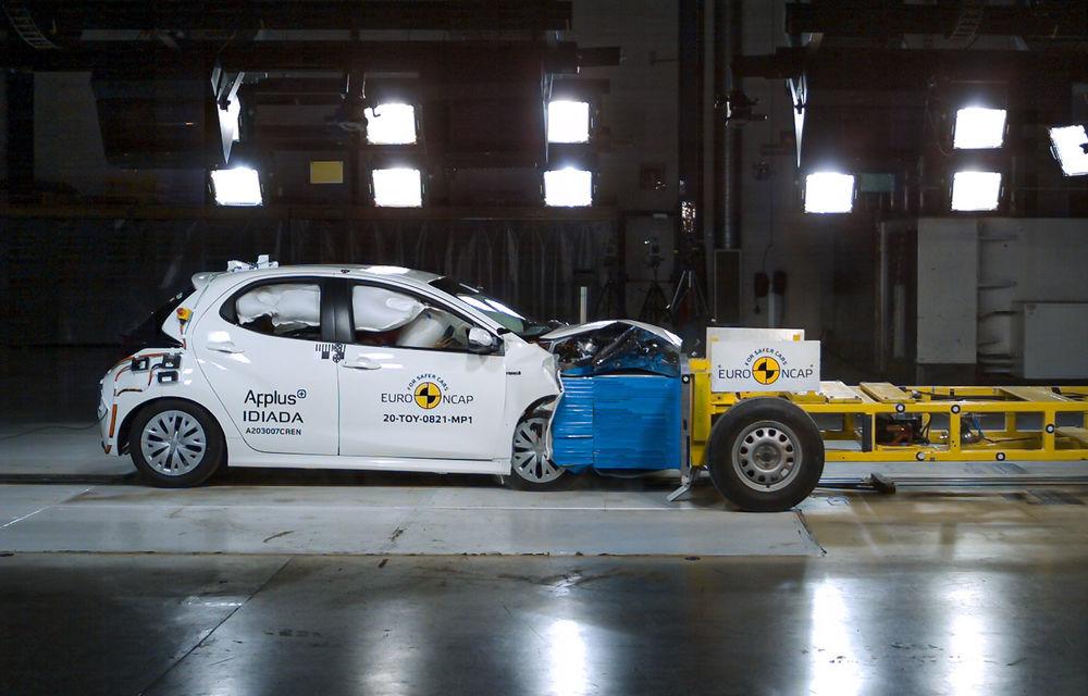 Toyota Yaris, primul model testat de Euro NCAP pe baza noilor reguli pentru impactul frontal: hatchback-ul a primit 5 stele - Poza 1