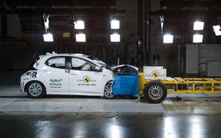 Toyota Yaris, primul model testat de Euro NCAP pe baza noilor reguli pentru impactul frontal: hatchback-ul a primit 5 stele