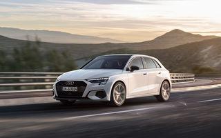 Noua generație Audi A3 Sportback primește o versiune cu gaz natural comprimat: motor de 1.5 litri cu 131 de cai putere