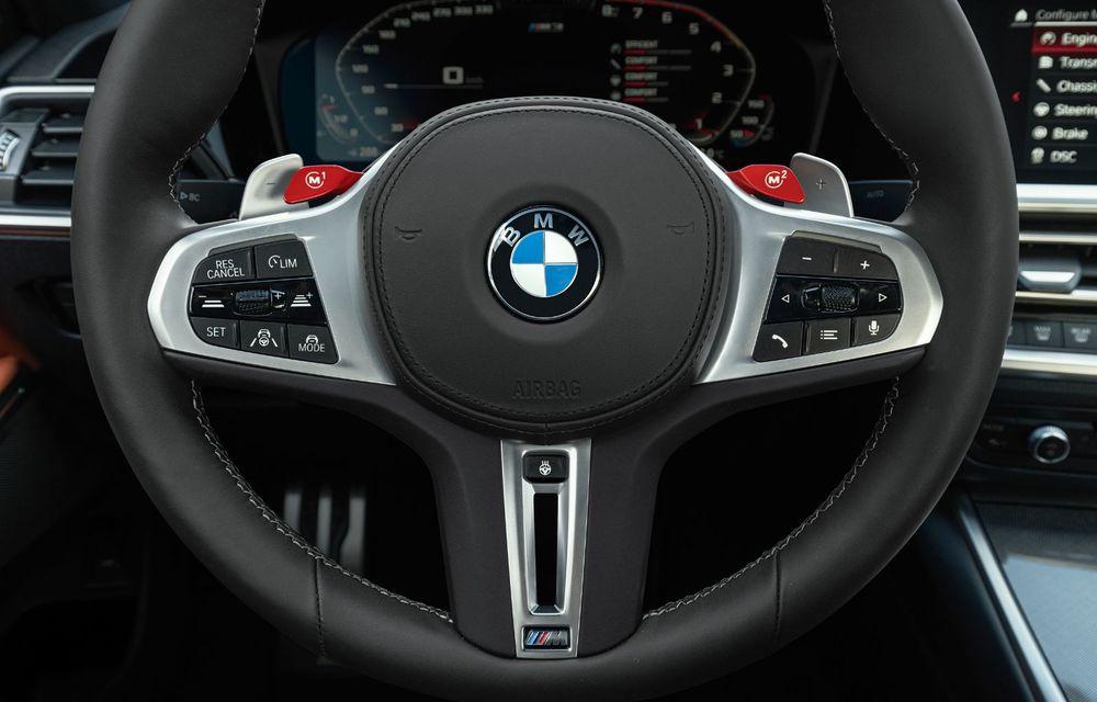 BMW a prezentat noile M3 și M4 Coupe: versiune de bază cu 480 CP și cutie manuală, și variantă Competition cu 510 CP și tracțiune integrală - Poza 49