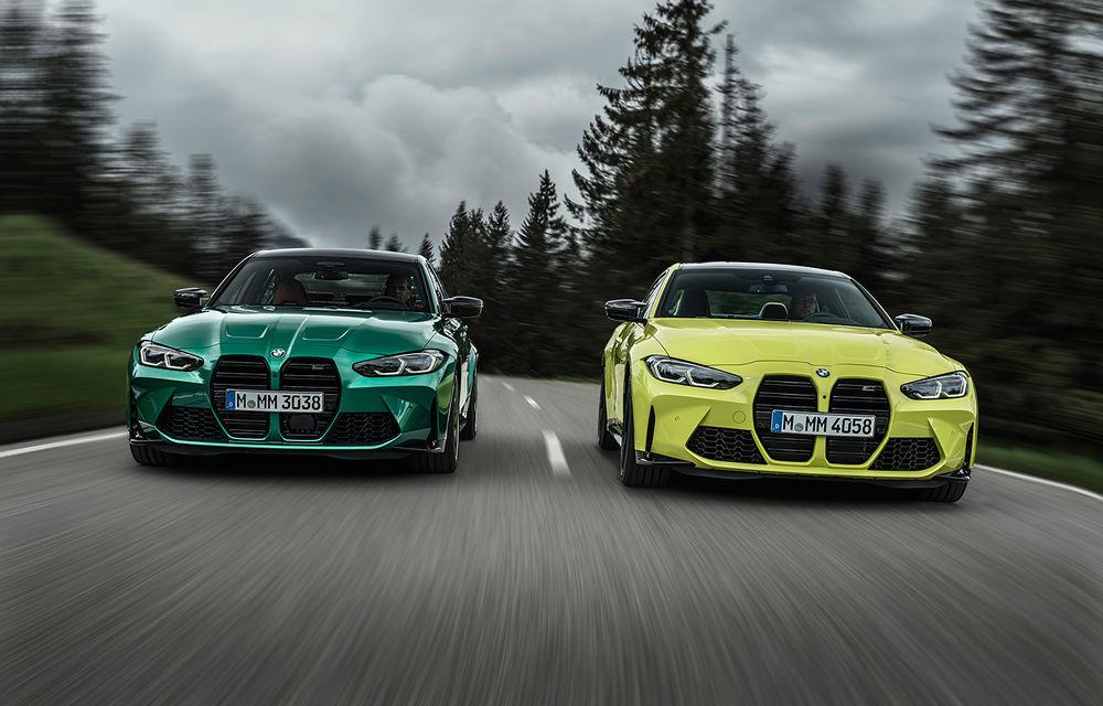 BMW a prezentat noile M3 și M4 Coupe: versiune de bază cu 480 CP și cutie manuală, și variantă Competition cu 510 CP și tracțiune integrală - Poza 1