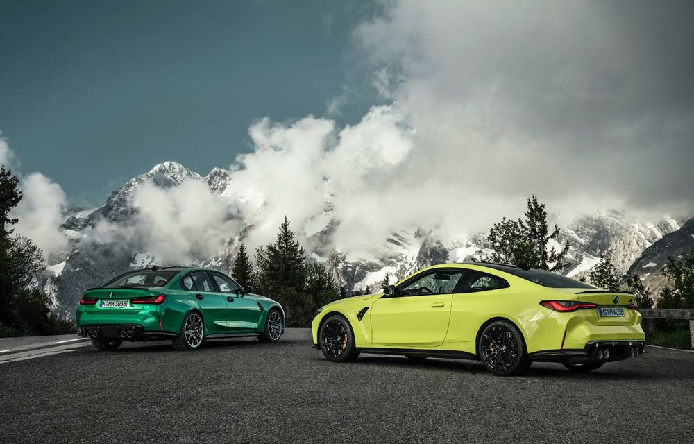 BMW a prezentat noile M3 și M4 Coupe: versiune de bază cu 480 CP și cutie manuală, și variantă Competition cu 510 CP și tracțiune integrală - Poza 4