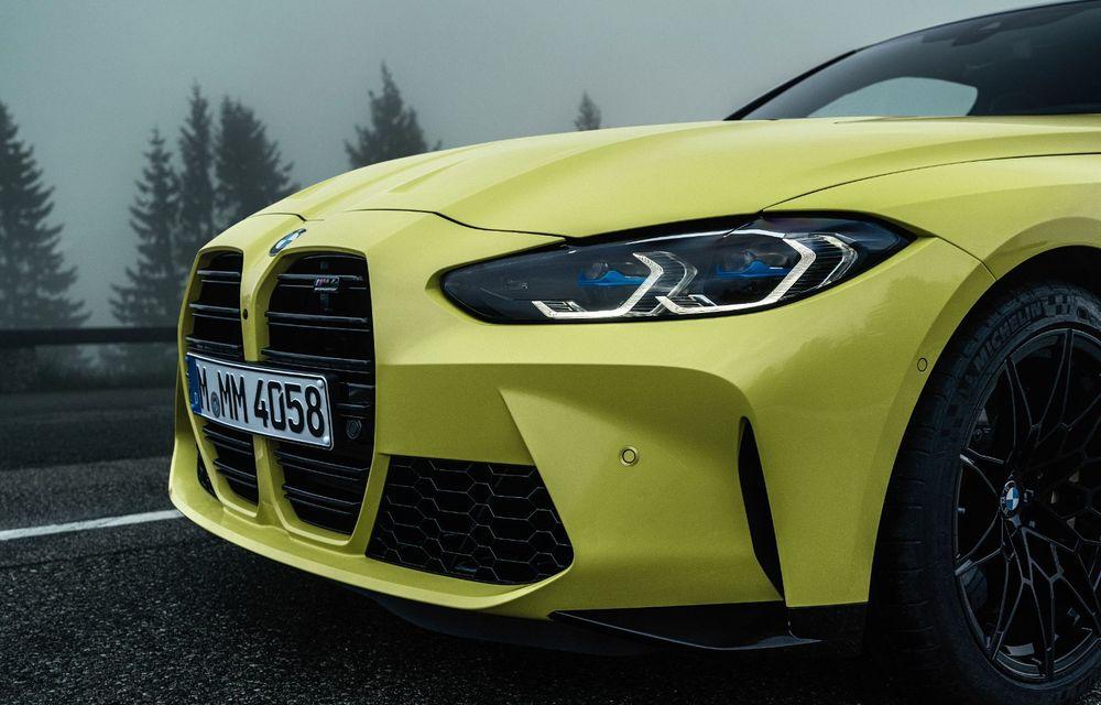 BMW a prezentat noile M3 și M4 Coupe: versiune de bază cu 480 CP și cutie manuală, și variantă Competition cu 510 CP și tracțiune integrală - Poza 37