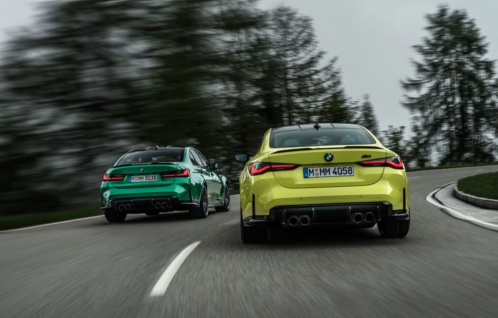 BMW a prezentat noile M3 și M4 Coupe: versiune de bază cu 480 CP și cutie manuală, și variantă Competition cu 510 CP și tracțiune integrală - Poza 3
