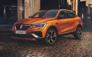 Renault Arkana ajunge în Europa în 2021: SUV-ul coupe va avea versiune hibridă de 140 CP, două variante micro-hibrid și echipare RS Line