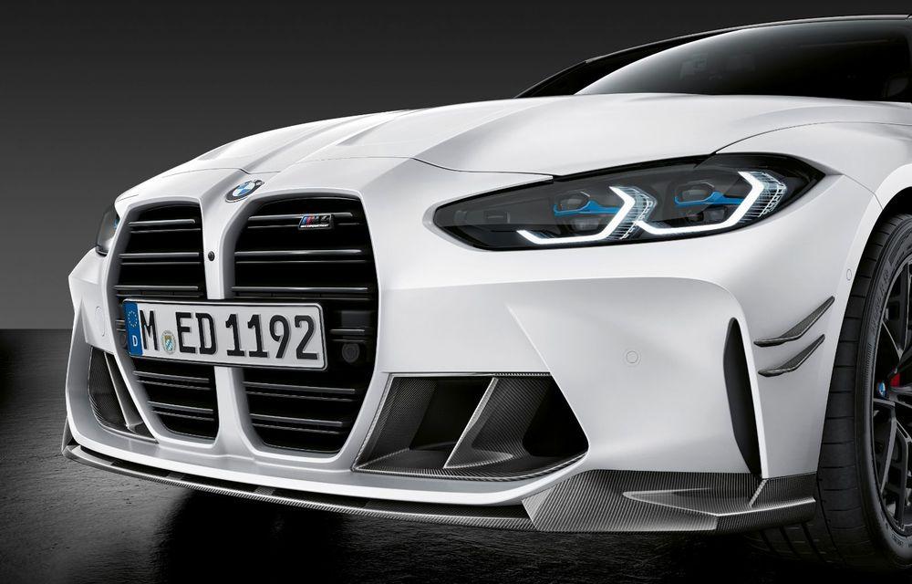 Accesorii M Performance pentru noile BMW M3 și M4 Coupe: elemente de caroserie din fibră de carbon și noutăți pentru interior - Poza 22