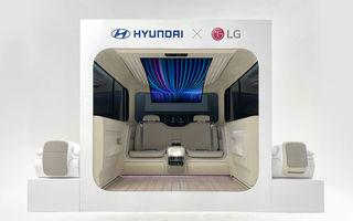 Interiorul mașinilor electrice în viziunea Hyundai: confort sporit și ecran flexibil de 77 inch pentru pasagerii din spate