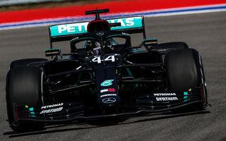 Hamilton, pole position în Rusia în fața lui Verstappen și Bottas! Vettel, doar locul 15 după un accident