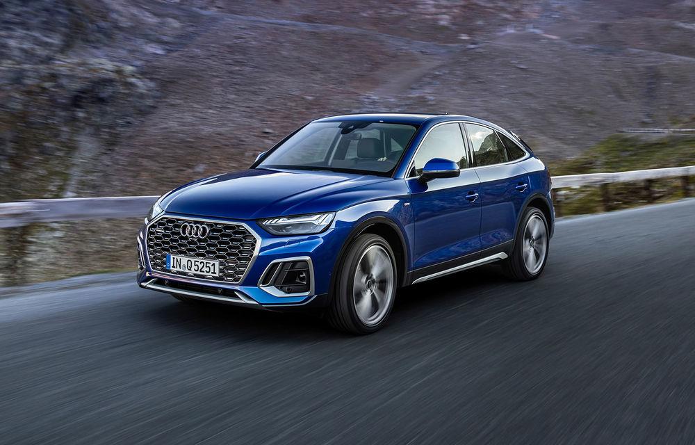 Audi a prezentat Q5 Sportback: SUV-ul coupe va avea versiuni plug-in hybrid și variantă SQ5 cu 347 CP - Poza 1