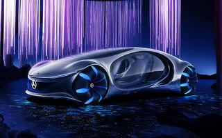 Video. Mercedes-Benz a testat prototipul Vision AVTR, care folosește un senzor de pulsație în loc de volan