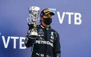"""Hamilton acuză FIA pentru penalizările din cursa din Rusia: """"Bănuiesc că vor să păstreze suspansul în campionat"""""""