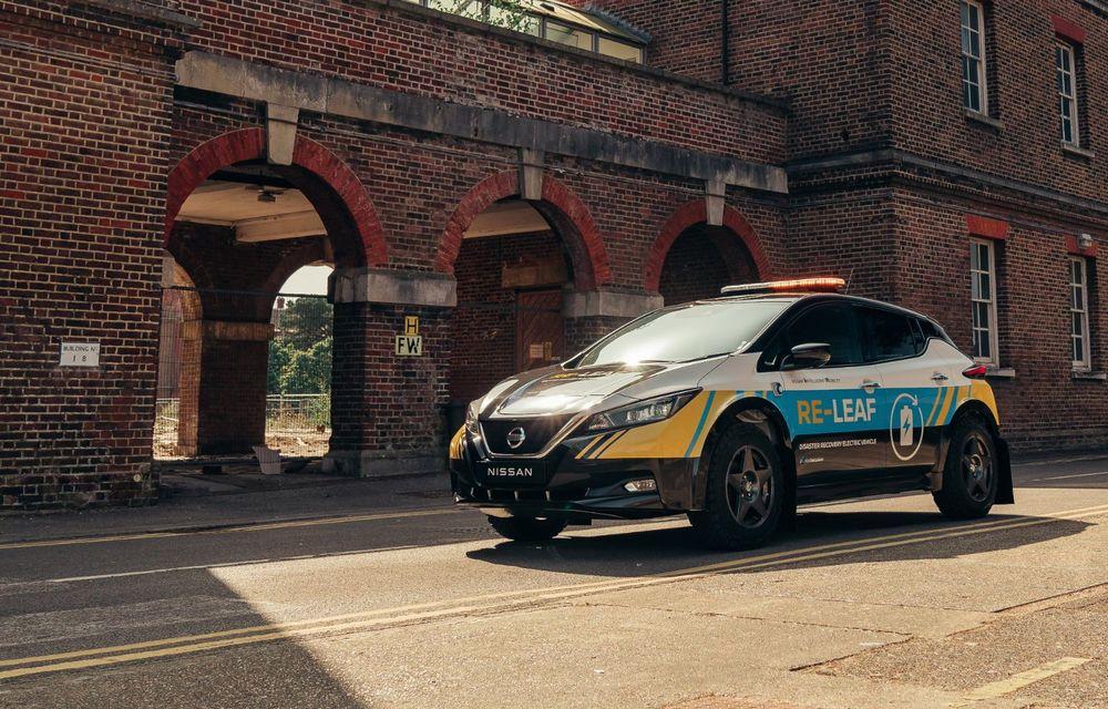 Nissan a lansat conceptul unui vehicul de intervenții bazat pe Leaf: prototipul poate livra energia electrică stocată în baterii către echipamentele casnice - Poza 8