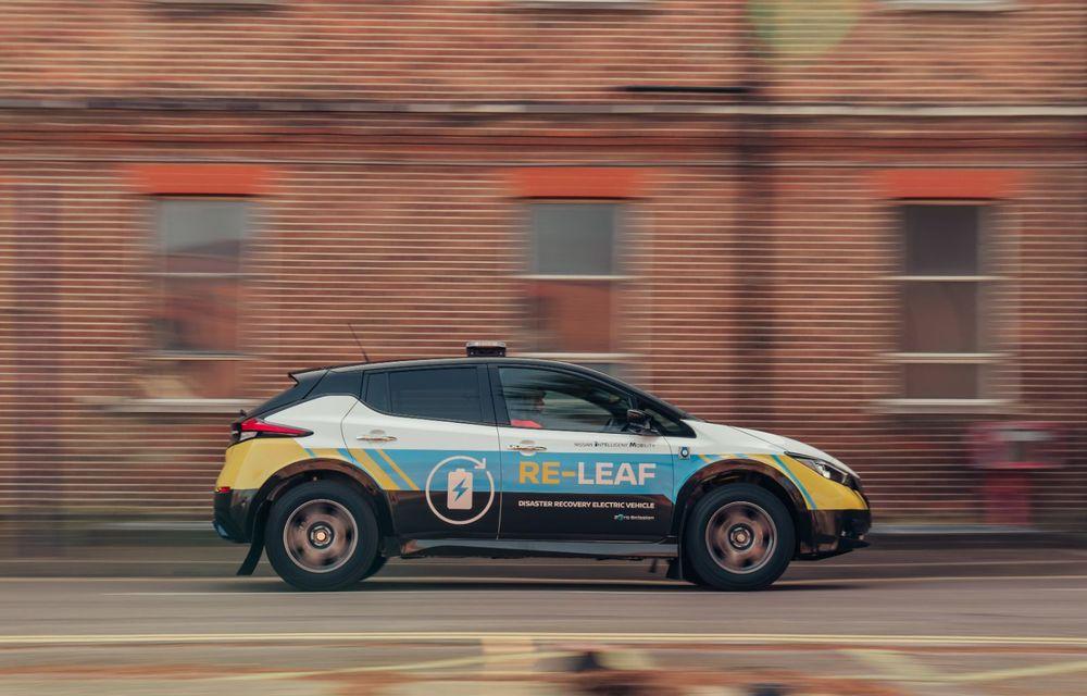 Nissan a lansat conceptul unui vehicul de intervenții bazat pe Leaf: prototipul poate livra energia electrică stocată în baterii către echipamentele casnice - Poza 9