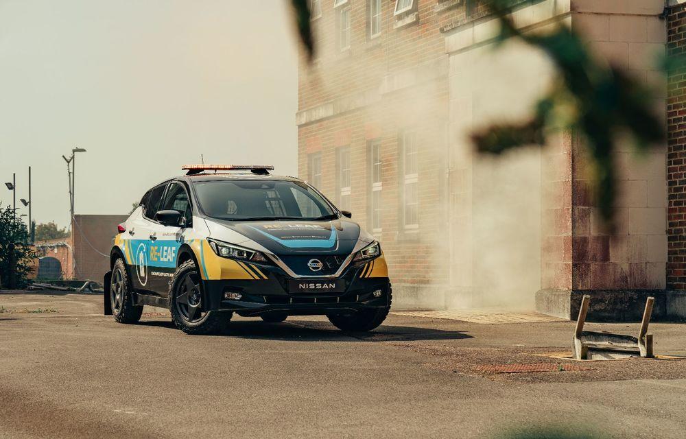 Nissan a lansat conceptul unui vehicul de intervenții bazat pe Leaf: prototipul poate livra energia electrică stocată în baterii către echipamentele casnice - Poza 7