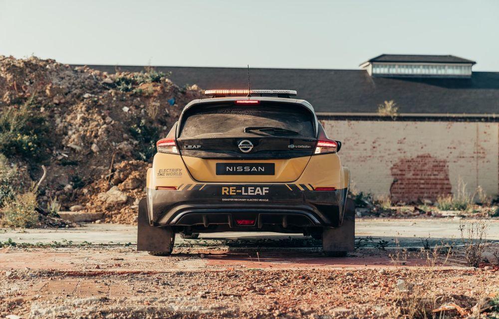 Nissan a lansat conceptul unui vehicul de intervenții bazat pe Leaf: prototipul poate livra energia electrică stocată în baterii către echipamentele casnice - Poza 6