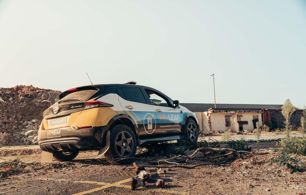 Nissan a lansat conceptul unui vehicul de intervenții bazat pe Leaf: prototipul poate livra energia electrică stocată în baterii către echipamentele casnice - Poza 5