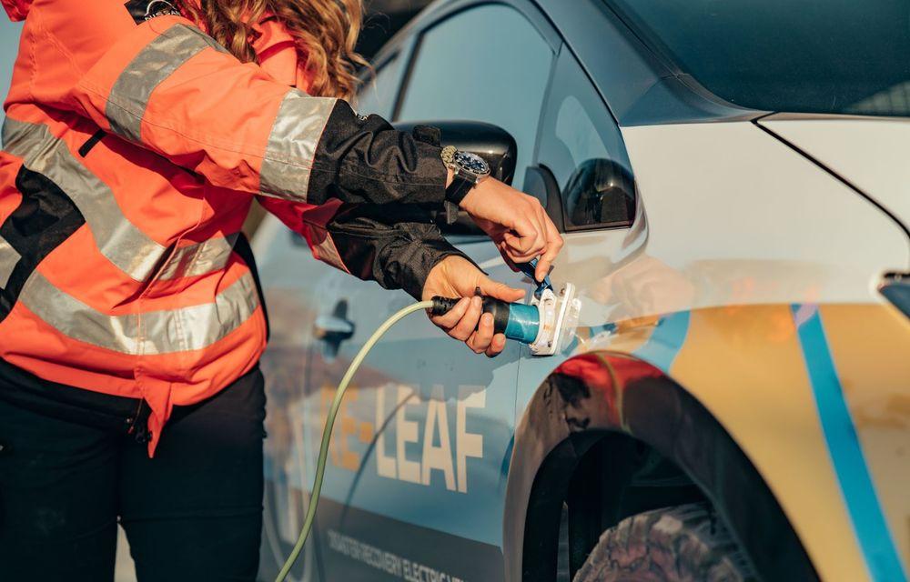 Nissan a lansat conceptul unui vehicul de intervenții bazat pe Leaf: prototipul poate livra energia electrică stocată în baterii către echipamentele casnice - Poza 15