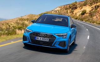 Versiune plug-in hybrid pentru noul Audi A3 Sportback: 204 cai putere și până la 67 de kilometri autonomie electrică