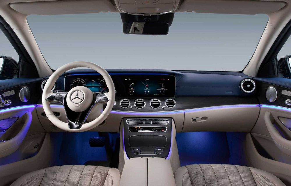 Mercedes-Benz a prezentat versiunea cu ampatament mărit a lui Clasa E facelift: modelul va fi disponibil doar pe piața din China - Poza 6