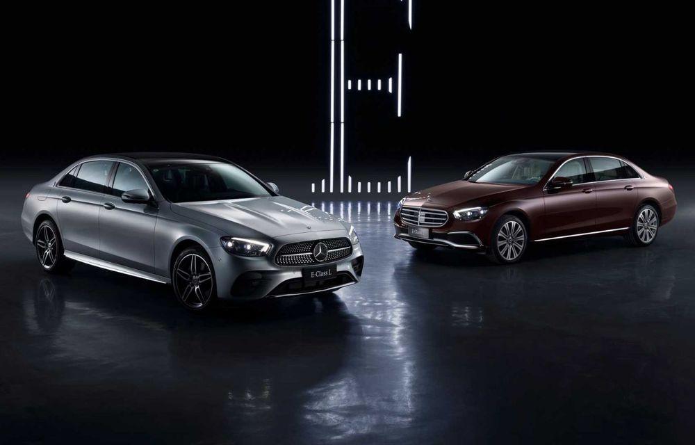 Mercedes-Benz a prezentat versiunea cu ampatament mărit a lui Clasa E facelift: modelul va fi disponibil doar pe piața din China - Poza 3