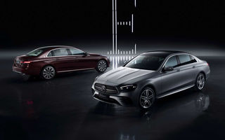 Mercedes-Benz a prezentat versiunea cu ampatament mărit a lui Clasa E facelift: modelul va fi disponibil doar pe piața din China