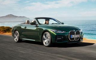 BMW a prezentat noul Seria 4 Convertible: plafon soft-top și versiune de top cu 374 de cai putere