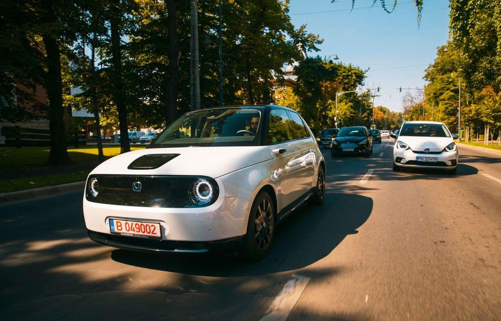 Honda versus jungla urbană: hibridul Jazz față în față în față cu electricul Honda e - Poza 8
