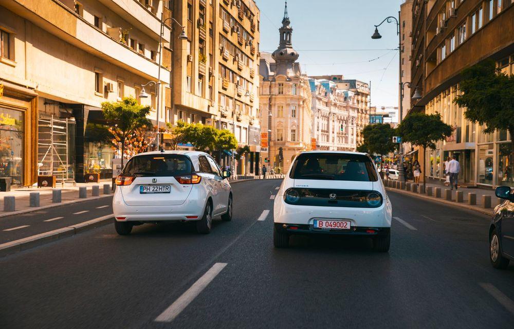 Honda versus jungla urbană: hibridul Jazz față în față în față cu electricul Honda e - Poza 11