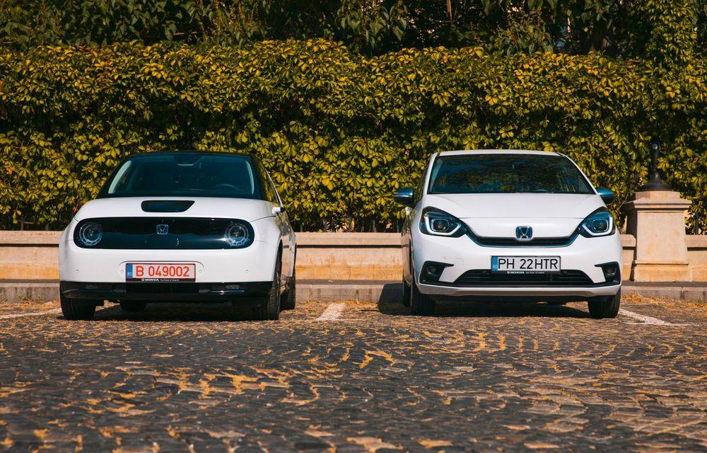 Honda versus jungla urbană: hibridul Jazz față în față în față cu electricul Honda e - Poza 16