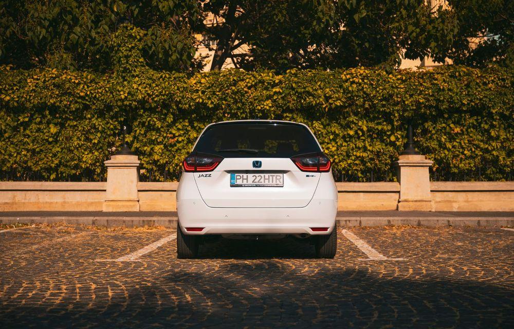 Honda versus jungla urbană: hibridul Jazz față în față în față cu electricul Honda e - Poza 46