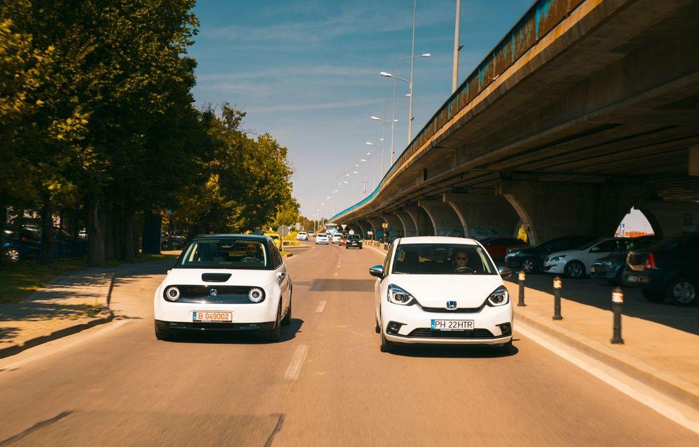 Honda versus jungla urbană: hibridul Jazz față în față în față cu electricul Honda e - Poza 5