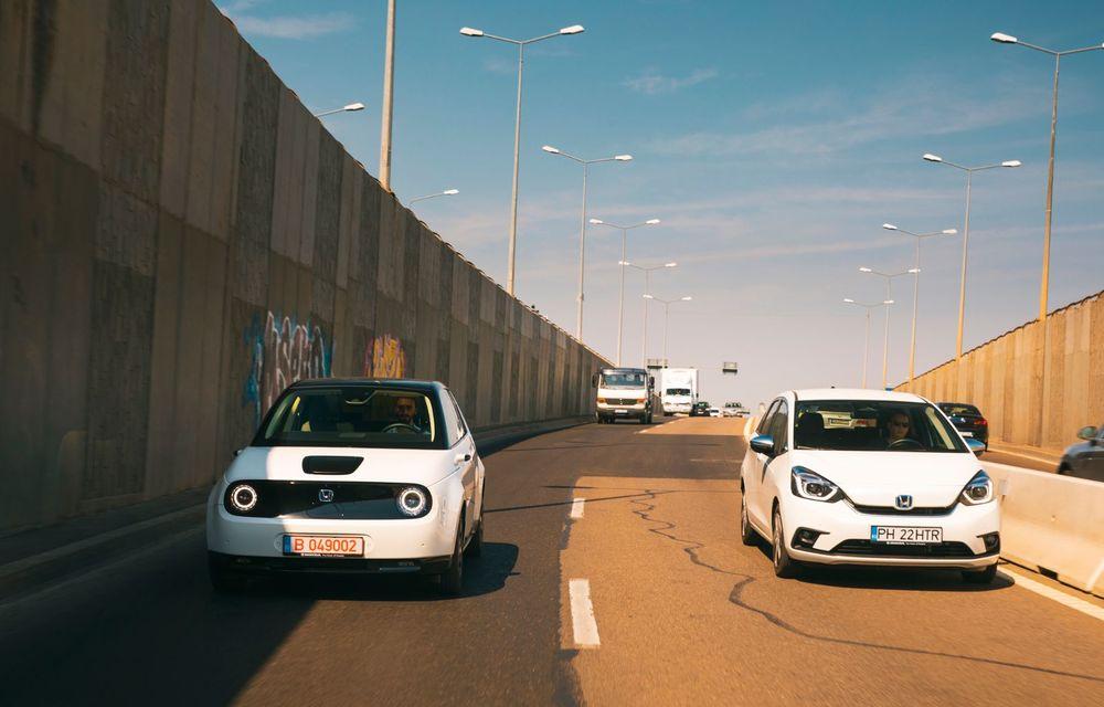 Honda versus jungla urbană: hibridul Jazz față în față în față cu electricul Honda e - Poza 6
