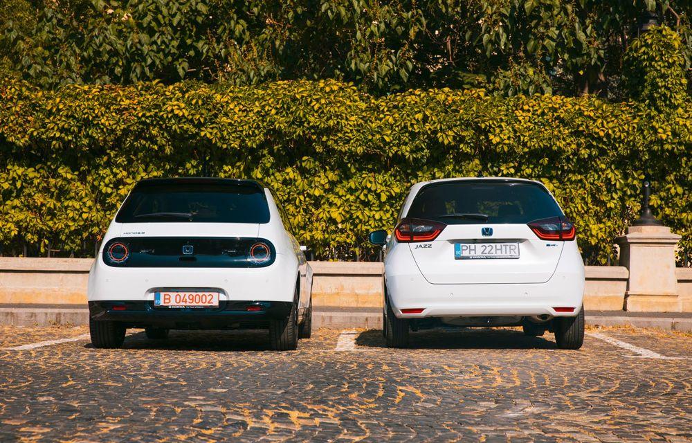 Honda versus jungla urbană: hibridul Jazz față în față în față cu electricul Honda e - Poza 17