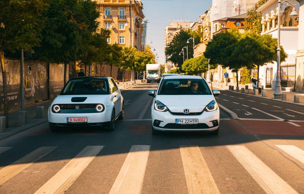 Honda versus jungla urbană: hibridul Jazz față în față în față cu electricul Honda e - Poza 9