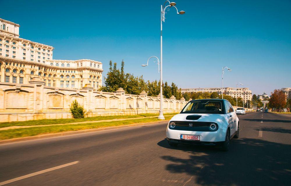 Honda versus jungla urbană: hibridul Jazz față în față în față cu electricul Honda e - Poza 14