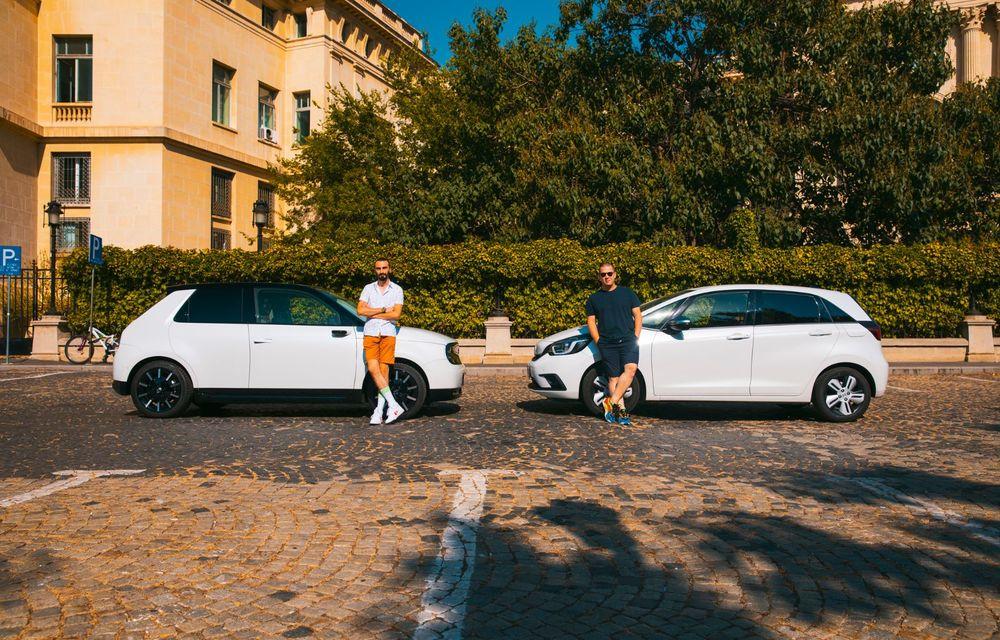 Honda versus jungla urbană: hibridul Jazz față în față în față cu electricul Honda e - Poza 19