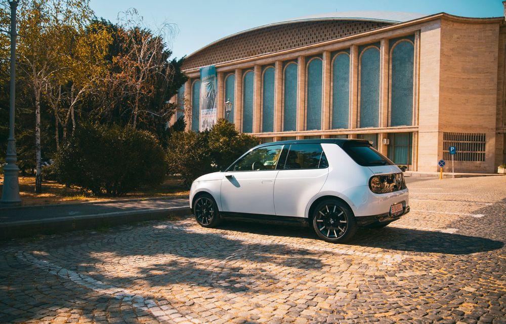 Honda versus jungla urbană: hibridul Jazz față în față în față cu electricul Honda e - Poza 26