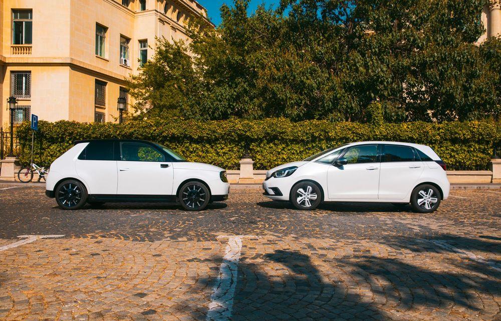 Honda versus jungla urbană: hibridul Jazz față în față în față cu electricul Honda e - Poza 18