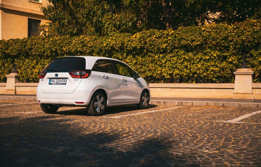 Honda versus jungla urbană: hibridul Jazz față în față în față cu electricul Honda e - Poza 45