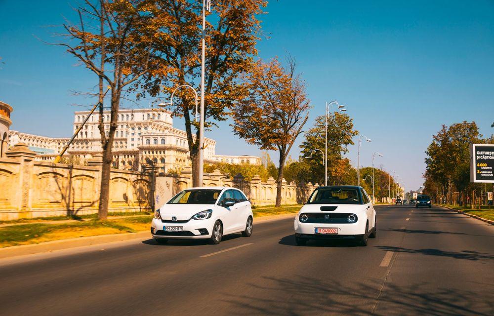 Honda versus jungla urbană: hibridul Jazz față în față în față cu electricul Honda e - Poza 15