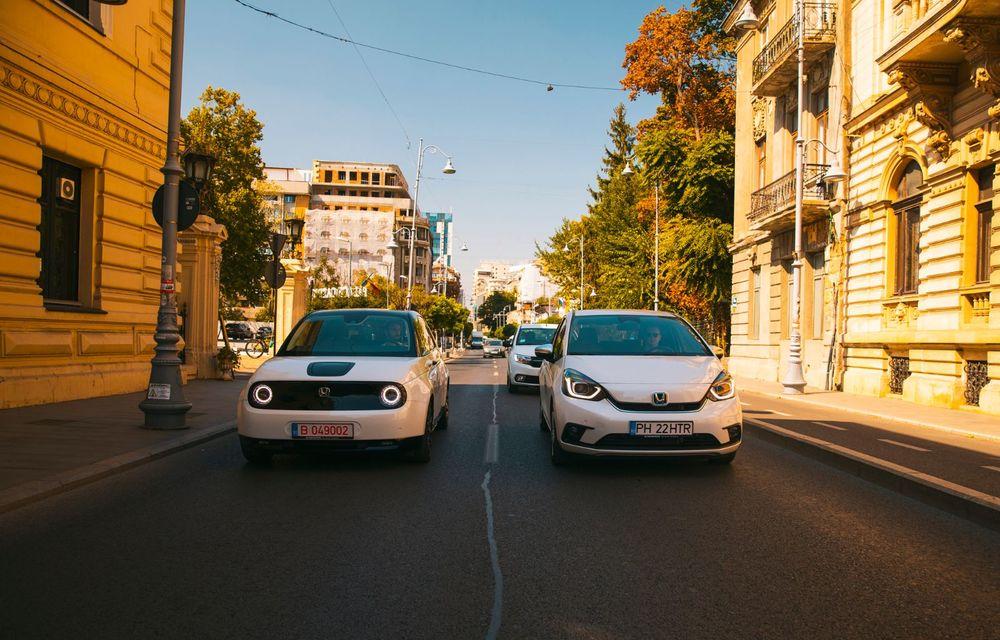 Honda versus jungla urbană: hibridul Jazz față în față în față cu electricul Honda e - Poza 10
