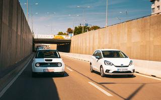 Honda versus jungla urbană: hibridul Jazz față în față în față cu electricul Honda e