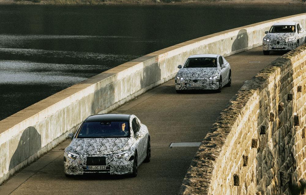 Imagini sub camuflaj cu Mercedes-Benz EQS, EQE și EQE SUV: noile modele electrice vor apărea pe piață începând din 2021 - Poza 4