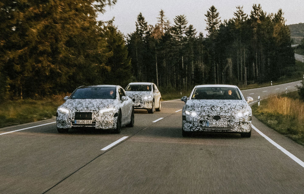 Imagini sub camuflaj cu Mercedes-Benz EQS, EQE și EQE SUV: noile modele electrice vor apărea pe piață începând din 2021 - Poza 3