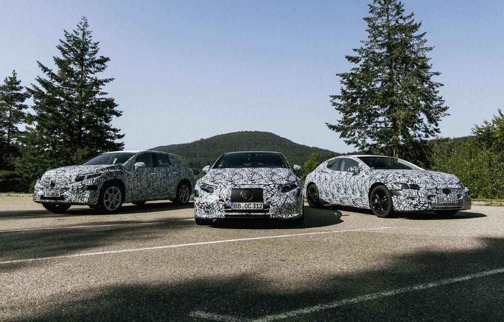 Imagini sub camuflaj cu Mercedes-Benz EQS, EQE și EQE SUV: noile modele electrice vor apărea pe piață începând din 2021 - Poza 1